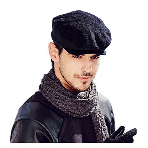 Kenmont automne hiver homme lierre bouchon chauffeur de taxi Chapeau visière noire casquette