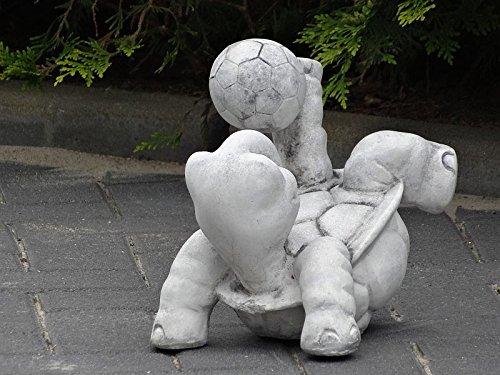 Steinfigur Nr.556 Fußball Schildkröte 11 Fussballspieler ca. 8 kg - 6