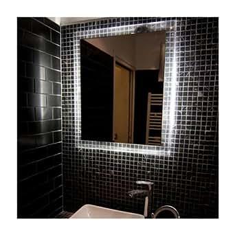 Miroir lumineux design Odalyss 60 cm Couleur Argenté Matière Acrylique