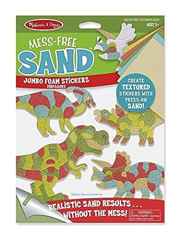 Melissa & Doug Mess-Free Sand Jumbo Foam Dinosaurs Stickers