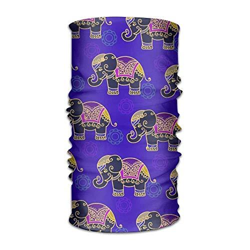 Osmykqe Unisex hombres mujeres moda elefantes indios versátil bandana diadema al aire...
