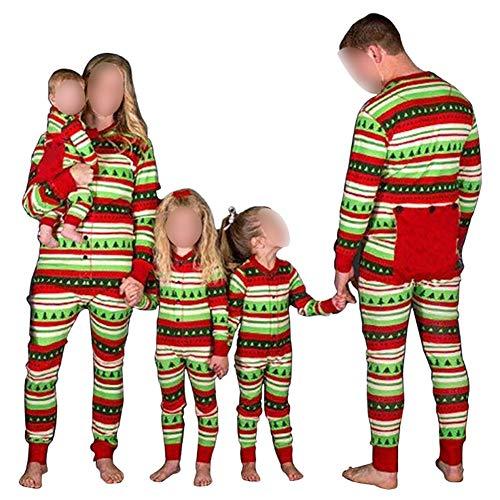 Hzjundasi Flapjacks Onesie Weihnachten Familie Matching Pyjama - Erwachsene Kinder und Säugling PJs Xmas Feiertag Schlafanzüge Einteilig Nachtwäsche (Die Ganze Familie Pjs Für)