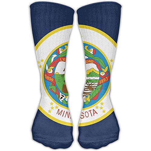 uyruyeue Unisex Casual Crew Socks Minnesota State Flag Fashion Novelty Socks -