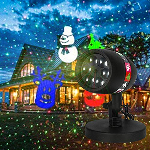 ichter Outdoor wasserdicht LED Fife Chip Card EIN Muster Philippine Rasen Landschaft Geburtstag Halloween ()