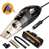 [Upgraded] Car Vacuum Cleaner with LED Light, HOTOR DC12-Volt Wet/Dry Portable Handheld Auto