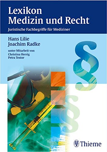 Cover »Lexikon Medizin und Recht«