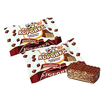 "Waffelkonfekt ""Korovka schokoladnaja"" mit Schokogeschmack"