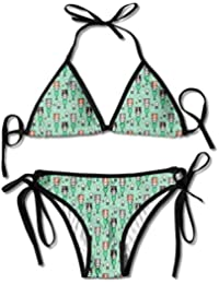 25b6271a8b01 Women Sexy Swimwear Adjustment Kawaii Mermaid Cats Funny Boxing Bikini Set  Swimsuits 2 Piece Bikinis