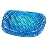 CADITEX Cuscino per sedie con ovuli in gel, cuscino antiscivolo perfetto per sedia da ufficio, auto, copertura per sedia a rotelle, pad imbottito per sollievo dal dolore, sciatica