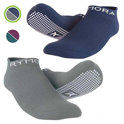 rutschfeste Anti Skid Grip Socken (2 Paar) (perfekt für Pilates, Yoga, Barre, Dance, Martial Arts, Trampolin, Fitness, Krankenhaus, Reha, Home & Body Balance)