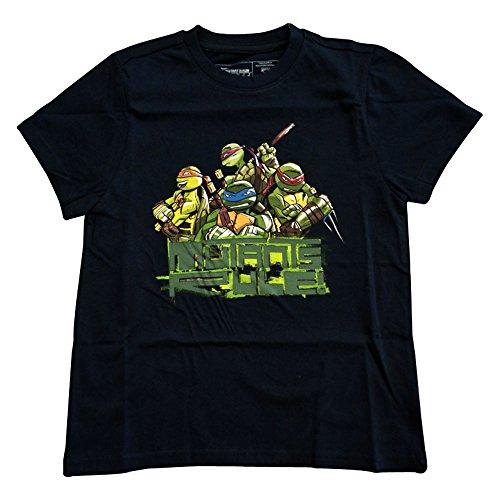 Ninja Turtles - Mutants Rule! T-Shirt - Maat 140/146 (Blauw)