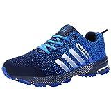 Wealsex Zapatos Para Correr EN Montaña Asfalto Aire Libre Deportes Zapatillas De Running Para Hombre (37, Azul Claro)