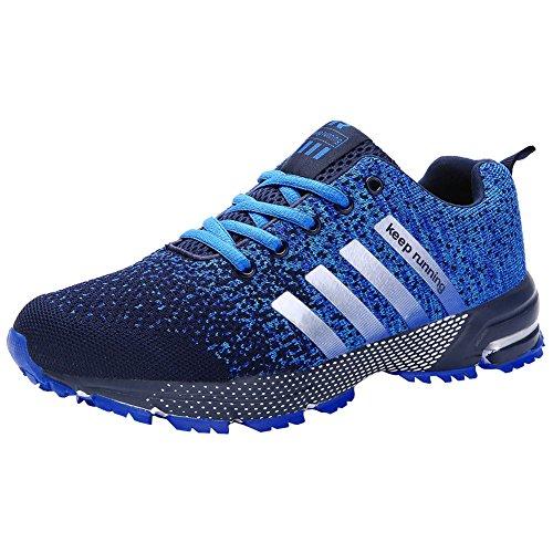 Foto de Wealsex Zapatos Para Correr En Montaña Asfalto Aire Libre Deportes Zapatillas De Running Para Hombre (42, Azul claro)
