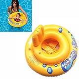 Aufblasbarer Schwimmsitz für Babys artistic9My Baby Sicherheit Sitz Schwimmen Ring Pool Infant Stuhl mit Rückenlehne für Baby 1–2Jahre, Gewicht Limit 33LB