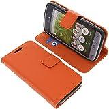 Tasche für Doro 8031 Book Style orange Kreditkarte Schutz Hülle Buch