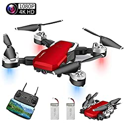 Abblie Drone avec Caméra, Mini Drone avec WiFi FPV 1080P HD 4K Pixels, Mode sans Tête&Maintien d'Altitude&Vol de Trajectoire&360°Flips, Convient aux Débutants et aux Enfants(2 Batteries)
