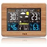 FanJu FJ3365 Wetterstation mit Weckfunktion und Temperatur / Feuchte / Barometer / Wecker / Mondphase / Uhr / Atomuhr mit Außensensor
