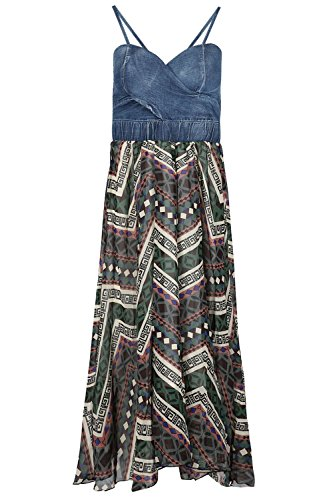 Be Jealous -  Vestito  - Senza maniche  - Donna Navy Azetic Multicolour
