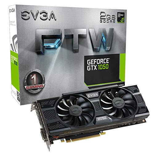EVGA GeForce GTX 1050 FTW Gaming Scheda Graficas ACX 3.0, 2GB GDDR5, DX12 OSD Supporto (PXOC) Scheda Grafica 02G-P4-6157-KR