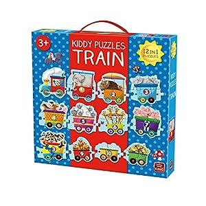 King Kiddy 1-2-3 Train 12in1 Giant Puzzle - Rompecabezas (Rompecabezas de Figuras, Dibujos, Niños, Kiddy, Niño/niña, 3 año(s))