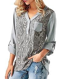 Damark(TM))))Ropa Camisetas Mujer, Camisas Mujer Verano Elegantes Casual Tallas Grandes Deporte Algodon Camisetas Mujer…
