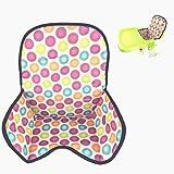 Cojín para silla de bebé de alta calidad, funda protectora de color con lunares, funda impermeable, transpirable, fácil de limpiar
