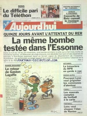 Gaston Lagaffe 12 - AUJOURD'HUI [No 16253] du 06/12/1996 - LE