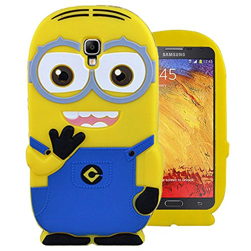 Heartly-Cute-Cartoon-Soft-Rubber-Silicone-Flip-Bumper-Best-Back-Case-Cover-For-Samsung-Galaxy-Note-3-Neo-N7505-N7500-Double-Eye