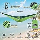 NatureFun Tragbare 275*140cm Ultra-Leichte 100% Fallschirm-Nylon Reise Camping Hängematte für Backpacker, Camping, Jagen, Strand, Hof - 3