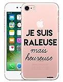 Evetane Coque Compatible avec iPhone 7 iPhone 8 Transparente Rigide Solide Raleuse...