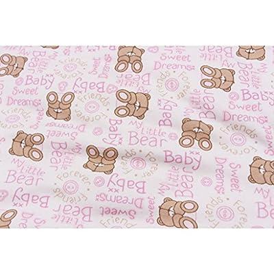 GudeHome Niños Bebé Bolsa del Sueño bebé Saco de dormir Invierno Saco de dormir Bebé Invierno en los Cochecitos Cama de 100 * 41CM Conveniente para el bebé sobre 0-36 Months(grueso rosa)