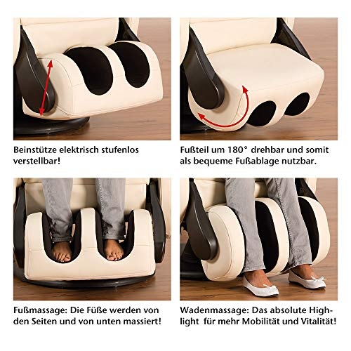 Massagesessel Komfort Deluxe perfekt ergonomisch aufgebaut