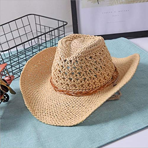 Stroh Pillendose (kyprx Women's Sun Hats Günstige Damen Sun Handwork C Stroh Sonnenhut Boy Boho Beach Hut)