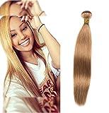 Dai Weier Meche Tissage Blond Bresilienne Lot Chérie Blonde Cheveux Lisse Vrai Remy Humain Hair Naturelle Meche Bresilien Straight en Vente 16 pouces