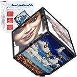 Revolving Photo Cube Displays 6 Photos