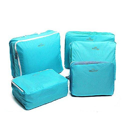 Hotportgift - Organizador para maletas  azul claro