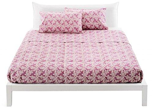 Completo copripiumino letto singolo una 1 piazza zucchi joy nuova collezione sacca + sotto + federa (offbeat rosa)