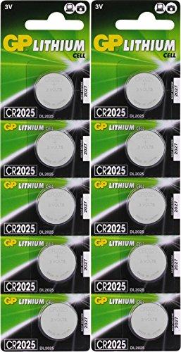 Batterien CR2025 CR 2025 (CR2025e) 3v Knopfbatterien/Lithium Knopfzellen 3 Volt, für verschiedenste...