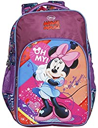 Disney School Bag For Girls 06+ Years Minnie Mouse Oh My Abstract 25 (L) Purple (Dm-0081)
