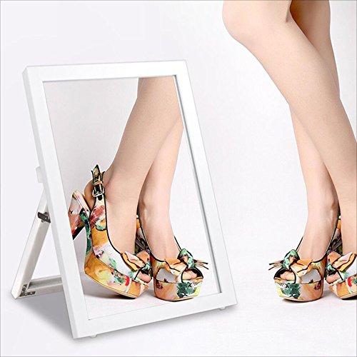 DNSJB Mit Regalen, Mirror Test, Desktop-Spiegel, Boden Spiegel Spiegel Test Schuhe (Farbe : Weiß)