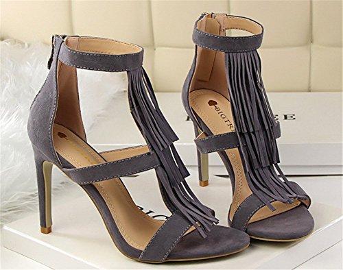 983f2960bf1cf4 Wealsex sandalen damen stilettos high heels Grau -hc-friseure.de