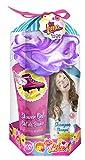 SOY LUNA Disney Bade-Set, 4teilig bestehend aus Duschgel (100 ml), Shampoo (100 ml), Bodylotion (100 ml) und Blumen-Schwamm, 1er Pack (1 x 1 Stück)
