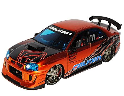 Subaru impreza Wrx Sti Orange Gold 1/24 Jada Modellauto Modell Auto SondeRangebot