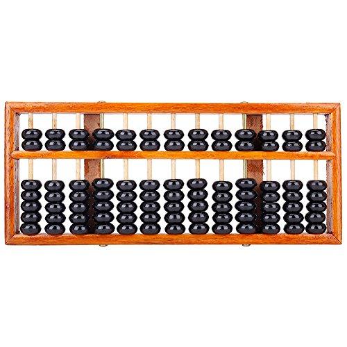 TININNA 13 dígitos Chino Vintage Madera Abacus soroban matemáticas educativas Herramientas de...