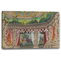 Printed Paintings Stampa su Tela (60x40cm): Carlo Ferrario - Stage Set Design for a Ballet: Don P