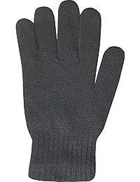 Men's Super Soft Wool Blend Fine Knit Thermal Winter Gloves