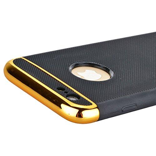 Coque iPhone 6 Plus/ iPhone 6S Plus, Yokata 2 in 1 Case Housse Étui Soft Doux TPU Silicone avec Amovible Bumper Flexible Backcover Ultra Mince Coque + 1*Stylet - Rouge Argent