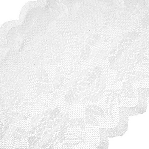 Souarts Ruban Dentelle Elastique Blanc environ Largueur 15cm 5 Yards