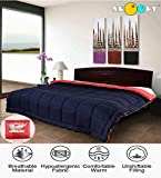 Snoopy Home Ultra Soft Microfibre Reversible Double Bed Comforter - King Size, Navy