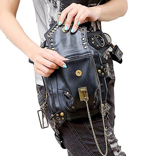 51xgJ48uumL. SS500  - FiveloveTwo® Men Women Multi-purpose Tactical Drop Leg Arm Bag Pack Hip Belt Waist Messenger Shoulder Fanny Packs Steampunk Bag Wallet Purse Pouch Bag